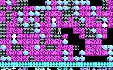 Boulder Dash PC Booter There's a lot of boulders to dodge in order to collect diamonds! (CGA)