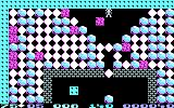 Boulder Dash PC Booter A serious quantity of diamonds and boulders (CGA)