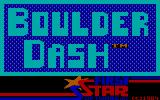 Boulder Dash PC Booter Title screen (PCjr)