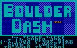Boulder Dash PC Booter The main menu (PCjr)