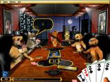 Dogs Playing Poker Windows Fido's elegant board room.