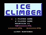 Ice Climber NES Title screen