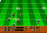 Mike Ditka Ultimate Football Genesis The ball flies towards the receiver...