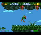Daffy Duck: The Marvin Missions SNES The forest/jungle planet