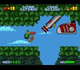 Daffy Duck: The Marvin Missions SNES Marvin's boss form on the jungle planet, which manifests mainly as a large shoe