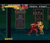 Final Fight 3 SNES Battling through a jail cell block