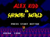 Alex Kidd in Shinobi World SEGA Master System Title Screen
