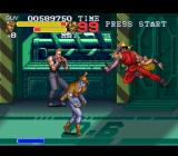 Final Fight 3 SNES A vaguely mechanical-looking background