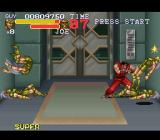 Final Fight 3 SNES Dispatching 4 ugly fighters in a spacious, luxurious elevator