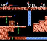 The Goonies NES Underground waterfall and reservoir