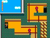 "Alex Kidd in Shinobi World SEGA Master System Alex says: ""How am I supposed to reach the exit?"""