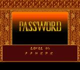 Prince of Persia 2: The Shadow & The Flame SNES Password screen