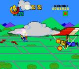 The Simpsons: Bart's Nightmare SNES Nelson on a hang glider