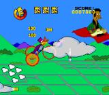 The Simpsons: Bart's Nightmare SNES Apu antagonizes Bart from his flying carpet