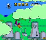 The Simpsons: Bart's Nightmare SNES The clouds above the power plant are toxic to the touch