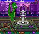 The Simpsons: Bart's Nightmare SNES Bartzilla destroys Springfield