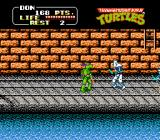 Teenage Mutant Ninja Turtles NES Taking in to the sewers in level 3