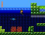 Alex Kidd in Shinobi World SEGA Master System Alex swimming underwater