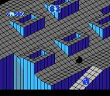 Marble Madness NES Level 2; watch out for the black marble