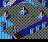 Marble Madness NES Later on in level 2 there are leeches who will eat the marble, possibly while the marble is waiting on the drawbridge