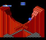 Marble Madness NES Level 4, starting at dizzying heights