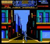 RoboCop 3 NES After fighting the tank boss, Robocop backtracks over the same level