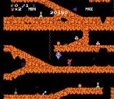 Spelunker NES A ghost is on the spelunker's tail