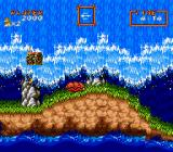 Super Ghouls 'N Ghosts SNES The violent sea rises up and washes over the land repeatedly