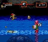 Super Ghouls 'N Ghosts SNES The stormy waves bounce the player up and down throughout this section
