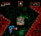 Super Ghouls 'N Ghosts SNES In this level, the player takes refuge in these platform cages while the level spins