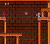 Milon's Secret Castle NES It looks like a long jump but there are secret blocks if Milon knows where to shoot bubbles