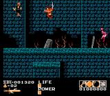 Demon Sword NES Level 2-1, bounding up a mountain covered in gravestones