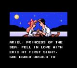Disney's The Little Mermaid NES Story scene