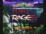 Primal Rage SEGA Saturn Title Screen