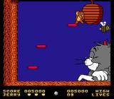 Tom & Jerry NES In the second boss battle, Tom is sleeping peacefully beneath a beehive; Jerry antagonizes the bees so that they attack Tom