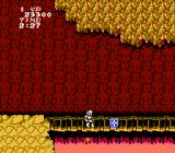Ghosts 'N Goblins NES The bridge across lava; there is a powerful cross weapon here