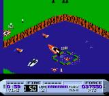 Cobra Triangle NES ...to here; enemy boats will be trying to thwart you