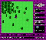 Hydlide NES Found a fairy in a tree