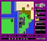 Hydlide NES A castle, well fortified between water and desert