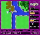 Hydlide NES After rescuing all 3 fairies, they transport you to the final castle