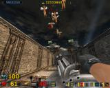 Serious Sam: The Second Encounter Windows Shooting some harpies in mid-air.