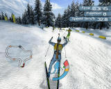 RTL Biathlon 2007 PlayStation 2 running
