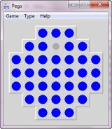 Pegs Windows Starting a game (Octagon-Board)
