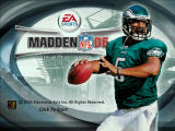Madden NFL 06 Windows Title screen