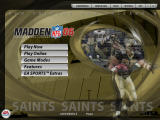 Madden NFL 06 Windows Main menu