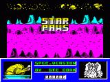 Star Paws ZX Spectrum Animated attract-mode screen