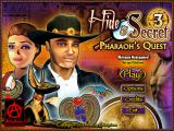 Hide & Secret 3: Pharaoh's Quest Windows Main menu