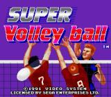 SUPER Volley ball Genesis Title screen.