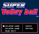SUPER Volley ball Genesis Main menu.