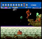 Ai Chō Aniki TurboGrafx CD A floating ship with maniacal suicidal little guys on board
